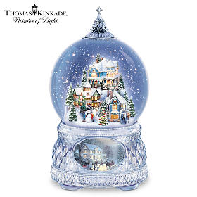Thomas Kinkade Home For The Holidays Snowglobe
