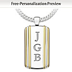Mens Necklace: Always My Son Personalized Pendant Necklace