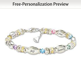 Sparkling Wishes Personalized Bracelet