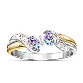 Jeweled Butterfly Embrace Ring