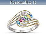 Womens Ring: A Mothers Hug Personalized Ring