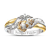 USMC Diamond Ring