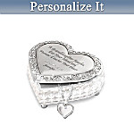 Music Box: My Granddaughter, I Love You Always Personalized Music Box And Diamond Pendant Necklace