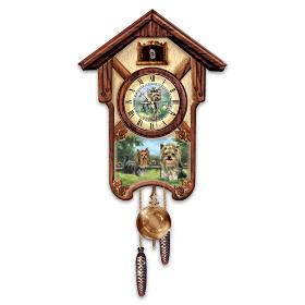Youthful Yorkies Cuckoo Clock