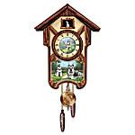 Cuckoo Clock: Sweet Schnauzers Cuckoo Clock