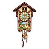 Pretty Pomeranians Cuckoo Clock