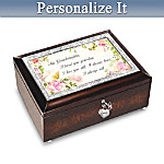 Music Box: Granddaughter, I Will Always Love You Personalized Music Box