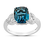 Ring: Splendor London Blue Topaz & Diamond Ring