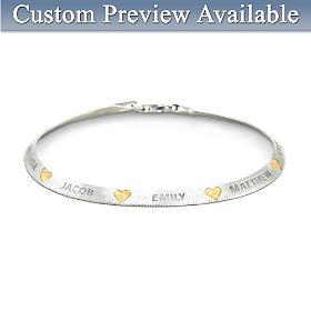 Family Blessings Personalized Bracelet