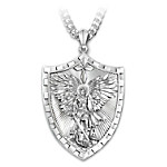 Mens Necklace: Triumph Of St. Michael Pendant Necklace