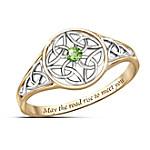Celtic Beauty Peridot Women's Ring