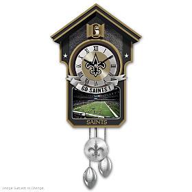 New Orleans Saints Cuckoo Clock