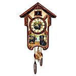 Cuckoo Clock: Boisterous Black Labs Cuckoo Clock