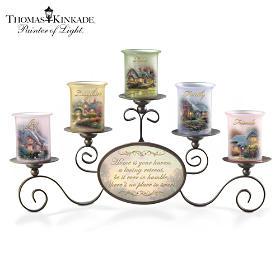 Thomas Kinkade Warmth Of Home Candleholder Set