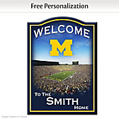 Michigan Wolverines Personalized Welcome Sign