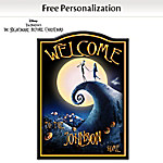 Welcome Sign: Tim Burtons The Nightmare Before Christmas Personalized Welcome Sign
