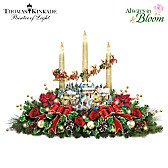 Thomas Kinkade The Lights Of Christmas Table Centerpiece