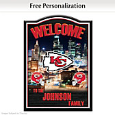 Kansas City Chiefs Personalized Welcome Sign