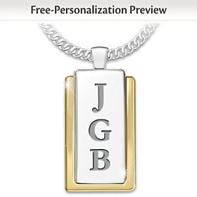 Yesterday, Today, And Forever Personalized Pendant Necklace