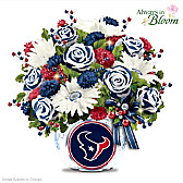 Houston Texans Blooming With Pride Table Centerpiece