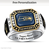 Seahawks Pride Personalized Commemorative Ring