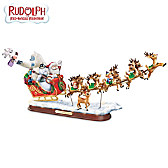 Rudolph's Christmas Journey Sculpture