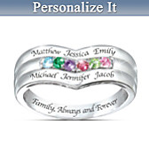 Family Forever Personalized Ring
