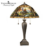 Thomas Kinkade Mountain Retreat Lamp