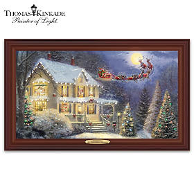 Thomas Kinkade The Night Before Christmas Wall Decor
