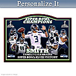Personalized Seattle Seahawks Super Bowl XLVIII Plaque