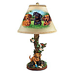 Dachshund Accent Table Lamp by Linda Picken