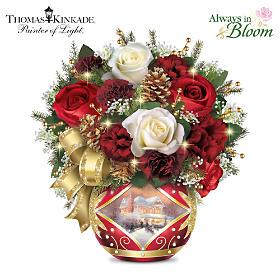 Thomas Kinkade Holiday Cheer Table Centerpiece