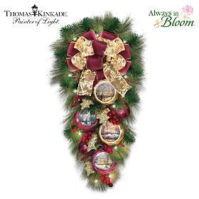 Thomas Kinkade Welcome Christmas Wreath