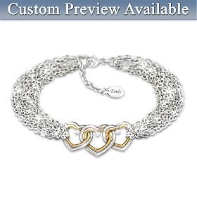 Love For Today Tomorrow Always Personalized Diamond Bracelet