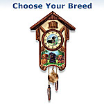 Cuckoo Clock: Playful Pups Choose Your Dog Breed Cuckoo Clock