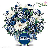 Seattle Seahawks Blooming With Pride Table Centerpiece
