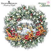 Thomas Kinkade A Very Merry Welcome Wreath