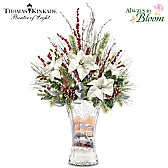 Thomas Kinkade Victorian Christmas Table Centerpiece