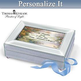 Thomas Kinkade Daughter I Love You Personalized Music Box