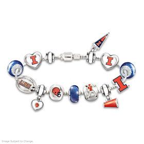 Go Illini! #1 Fan Charm Bracelet