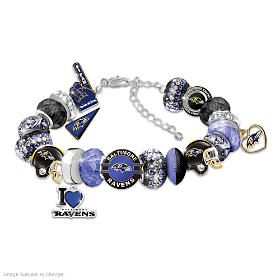 Fashionable Fan Ravens Bracelet