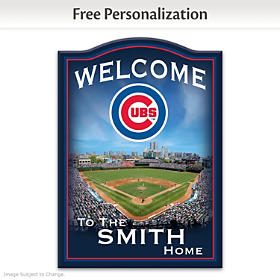 Chicago Cubs Personalized Welcome Sign