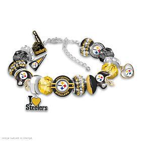 Fashionable Fan Steelers Charm Bracelet