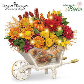 Thomas Kinkade Seasonal Splendor Table Centerpiece