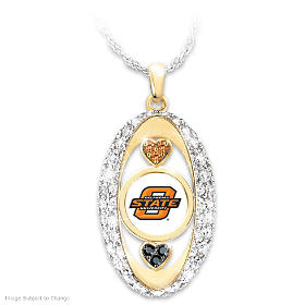 For The Love Of The Game Oklahoma State Pendant Necklace