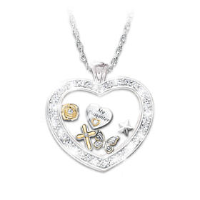 Wishes For My Daughter Pendant Necklace