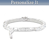Hidden Message Of Love Personalized Bracelet