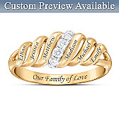 Our Family Is Love Personalized Diamond Ring