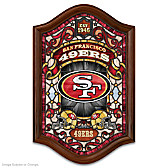 San Francisco 49ers Illuminated Stained-Glass Wall Decor