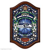 Seattle Seahawks Illuminated Stained-Glass Wall Decor